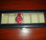 Leather Watch Organizer / Case - Holds 6 Watches
